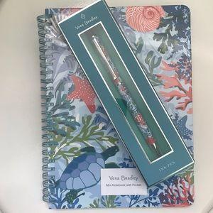 Vera Bradley Notebook & Pen Shore Thing